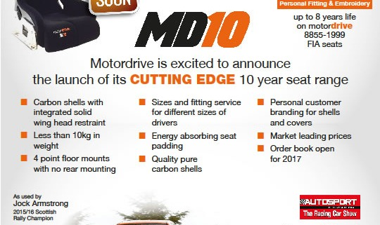 Motordrive MD10 Seat Launch
