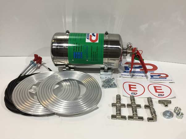 Haylo 4Kg Mechanical Stainless Steel Fire Extinguisher System