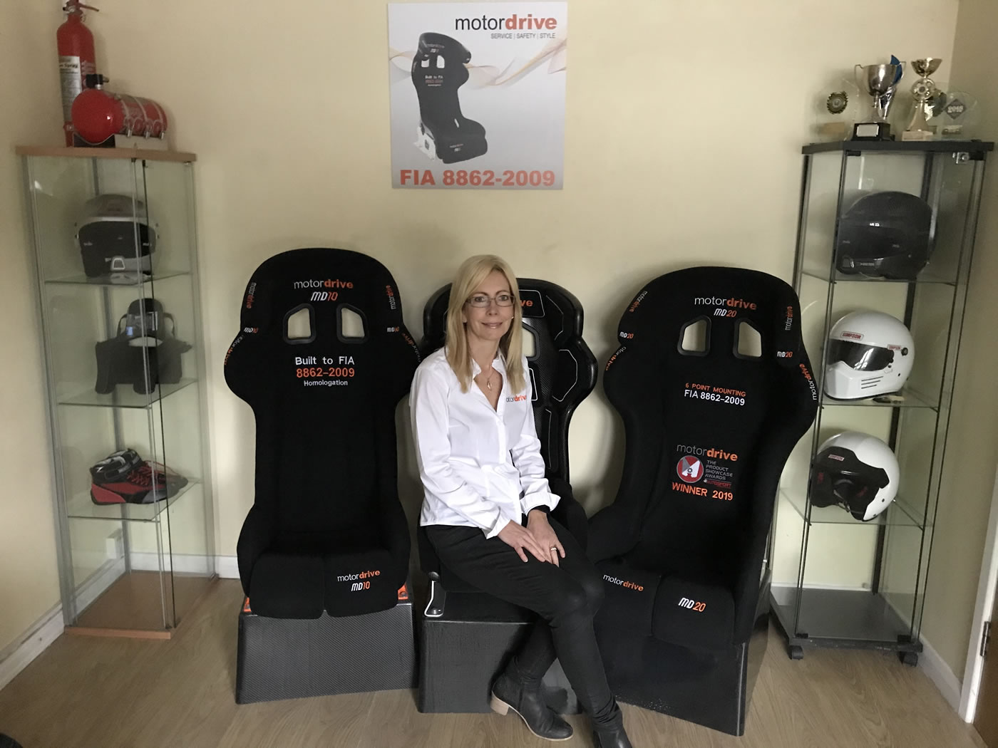 The Motordrive Seats showroom